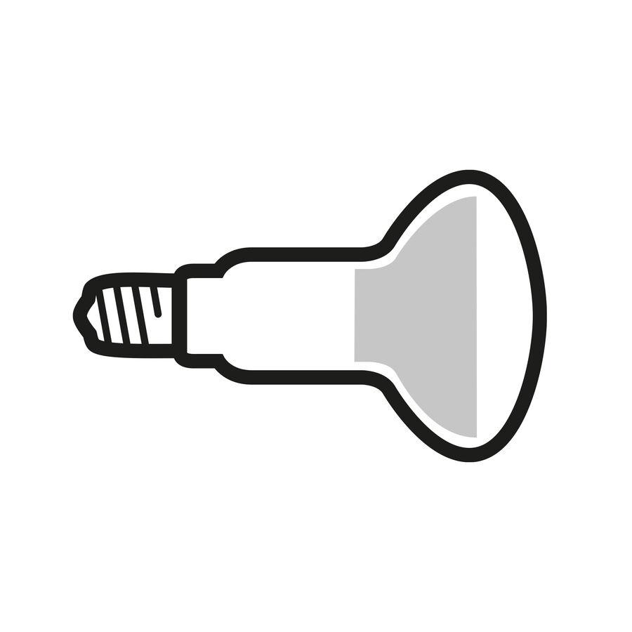 LED Reflector Lamp Wide Flood Clear E14 4W 2700K R50